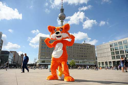 Firefox in Alexanderplatz